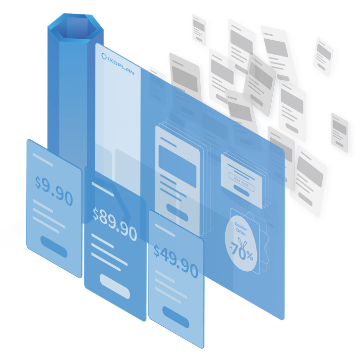 Managing sign-up flows and upgrade and downgrade plan strategies with IXOPLAN