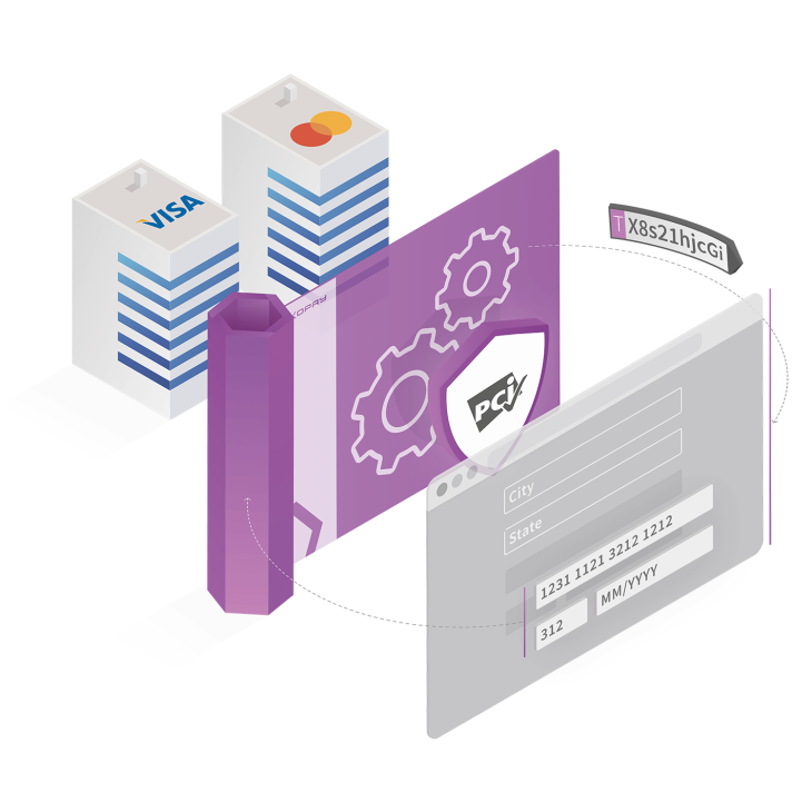 Our payment platform offers PCI-compliant card vauting